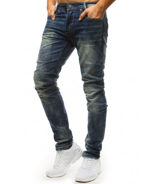 Pánske džínsové modré nohavice