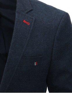 Čierno-biela košela pánska s kockovaným vzorom s dlhým rukávom