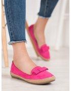 Ružové lakované sandále s mašličkami