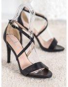 Béžové lakované sandále s motýľom