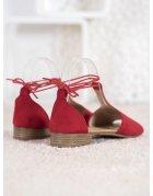 Ružové lakované sandále s motýľom