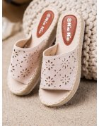 Semišová obuv na podpätku