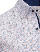 Košeľa pánska eleegantná so vzorom biela