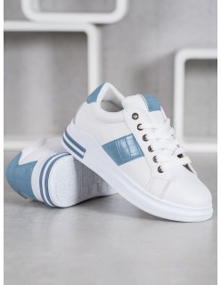 Pohodlné športové topánky bielo-čierne