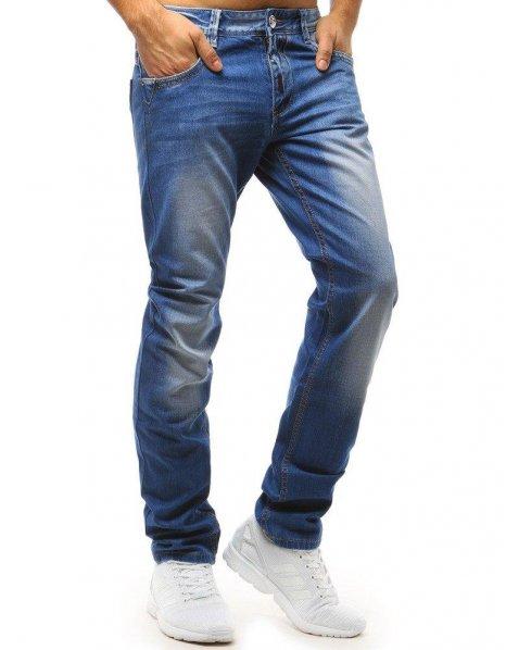 Modré džínsové pánske nohavice
