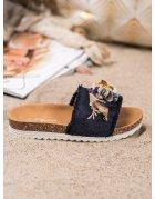 Detské čierne športové topánky na suchý zips