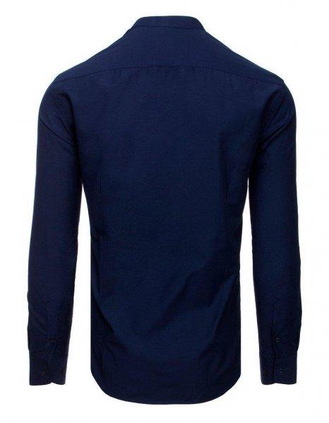 Elegantná pánska tmavomodrá košeľa