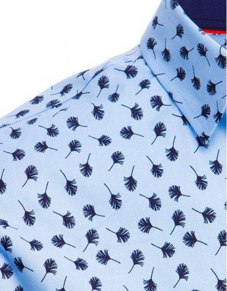 Blankytná pánska košeľa so vzormi