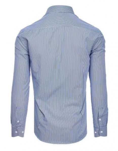 Pánska bielo-tmavomodrá pásikavá košeľa