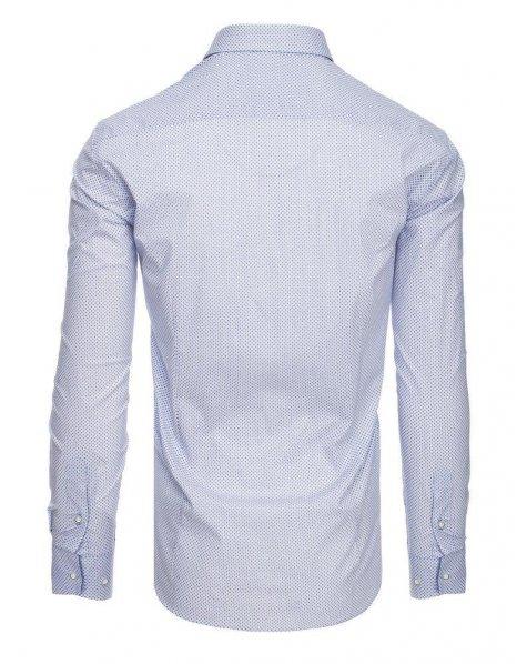Biela pánska košeľa so vzormi