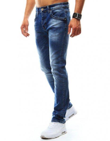 Pánske džínsové nohavice modrej farby