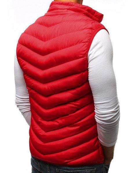 Červená pánska prešívaná vesta