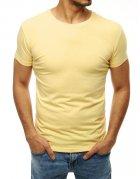 Pánske svetložlté tričko bez potlače