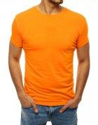 Pánske pomarančové tričko bez potlače