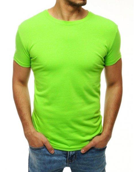 Pánske limetkové tričko bez potlače