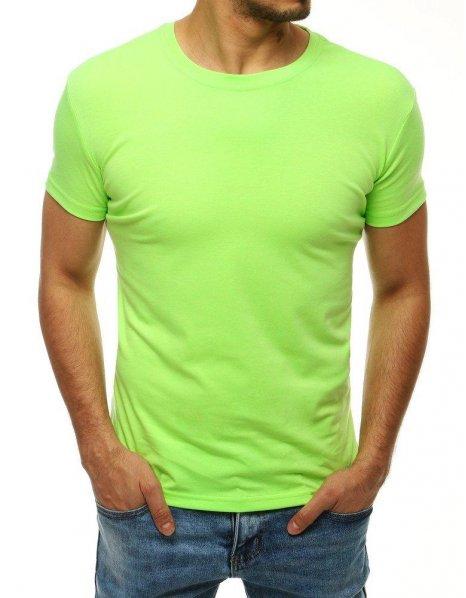 Pánske zelené tričko bez potlače