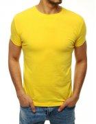 Pánske žlté tričko bez potlače