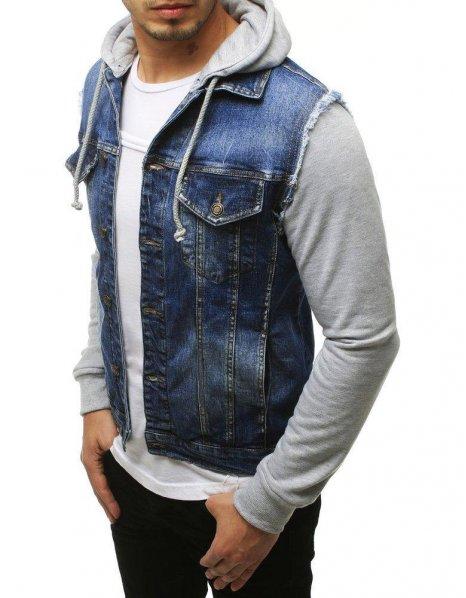 Pánske džínsová modrá bunda
