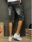 Šedé pánske džísnové kraťasy