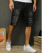 Čierne pánske džísnové kraťasy