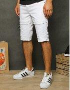 Biele pánske džísnové kraťasy