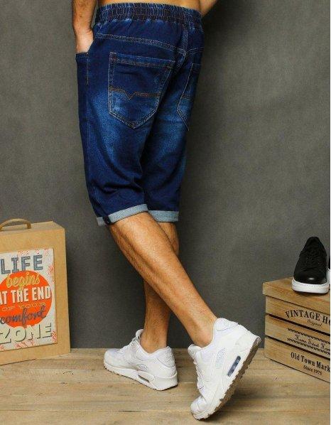 Tmavomodré pánske džísnové kraťasy
