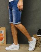 Modré pánske džínsové kraťasy