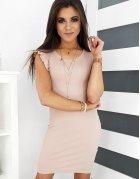 Púdrovo ružové šaty Belisia