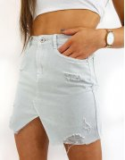 Šedá džínsová sukňa Fusim