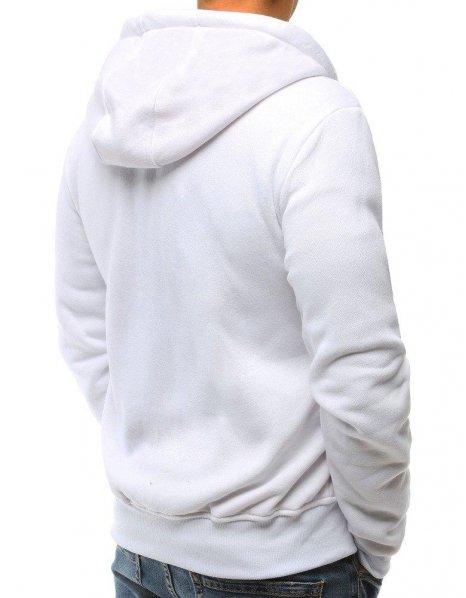Biela rozopínacia biela mikina