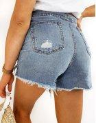 Modré dámske džínsové šortky Davis