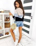 Pohodlné bielo-strieborné sandále
