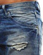 Pánske modré džínsové nohavice