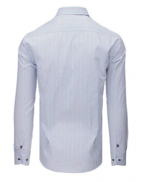 Biela pánska elegantná vzorovaná košeľa