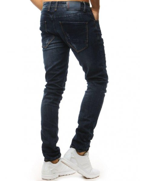 Pánske tmavomodré džínsové nohavice
