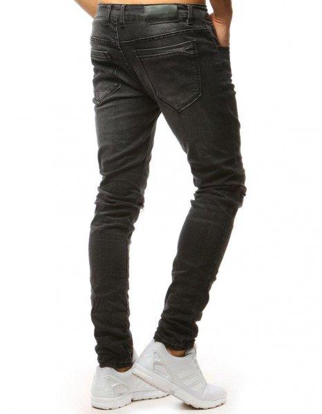 Pánske grafitové džínsové nohavice