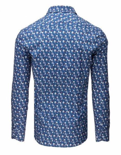 Džínsová vzorovaná elegantná košeľa