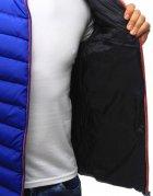 Modrá prešívaná pánska bunda