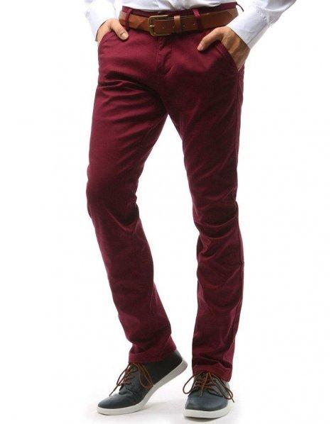 Bordové pánske chinos nohavice