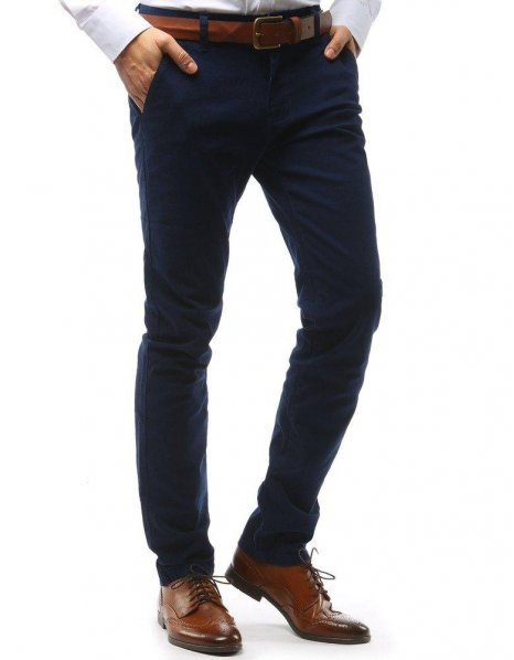 Pánske tmavomodré nohavice