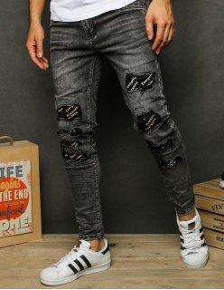 Bunda pánska džínsová čierna 5