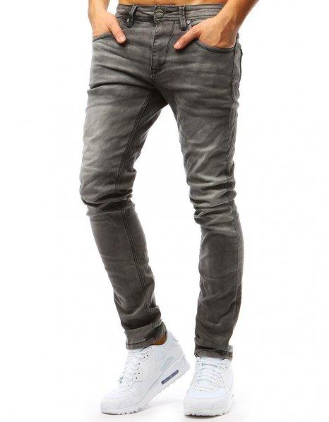 Džínsové pánske grafitové nohavice