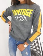 Dámska mikina Vintage tmavošedá