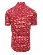 Bordová pánska košeľa s krátkym rukávom