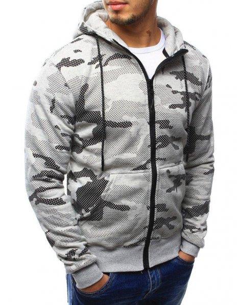 Pánska šedá mikina ArmyStyle 07 s kapucňou