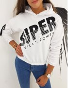Dámska mikina Super Girl biela