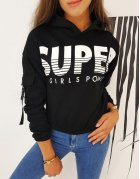 Dámska mikina Super Girl čierna