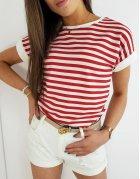 Červené dámske tričko Portos