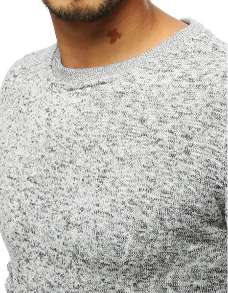 Mikina pánska bez kapucne biela