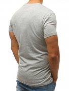 Pánske šedé tričko bez potlače